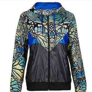 Adidas small butterfly zip up jacket